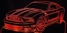 2013 Mustang Acrylic Lighted Edge Lit LED Sign / Light Up Plaque Full Size USA Original