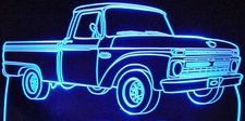 1966 Ford Pickup Truck F100 Acrylic Lighted Edge Lit LED Sign / Light Up Plaque Full Size Made in USA