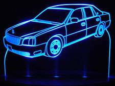 2004 Cadillac Coupe DeVille Acrylic Lighted Edge Lit LED Car Sign / Light Up Plaque