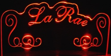 LaRae You Name It Acrylic Lighted Edge Lit LED Sign / Light Up Plaque
