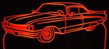 1960 Buick Lesabre Acrylic Lighted Edge Lit LED Car Sign / Light Up Plaque