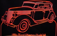 1936 Phaeton Acrylic Lighted Edge Lit LED Sign / Light Up Plaque Full Size USA Original