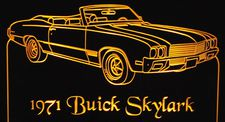 1971 Skylark Convertible Acrylic Lighted Edge Lit LED Sign / Light Up Plaque Full Size Made in USA
