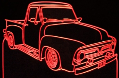 1953 Ford C500 Truck Acrylic Lighted Edge Lit Led Sign