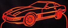 1994 Chevy Corvette Acrylic Lighted Edge Lit LED Sign / Light Up Plaque Chevrolet Full Size Made in USA