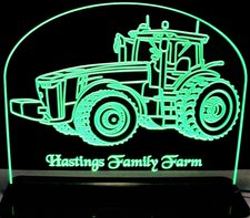 Tractor JD 5256 Acrylic Lighted Edge Lit LED Sign / Light Up Plaque Full Size Made in USA