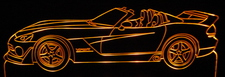 2006 Dodge Viper Copperhead Acrylic Lighted Edge Lit LED Sign / Light Up Plaque Full Size Made in USA