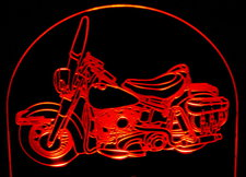 1961 Panhead Duo Glide Motorcycle Acrylic Lighted Edge Lit LED Bike Sign / Light Up Plaque