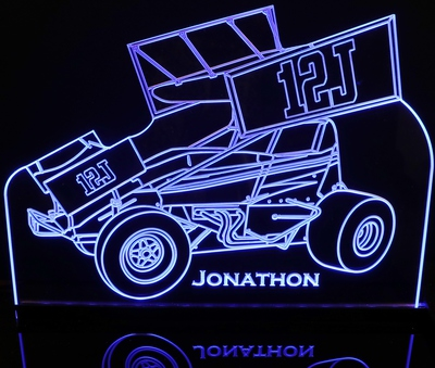Sprint Wing Car Choose your text Acrylic Lighted Edge Lit LED Sign / Light Up Plaque Full Size Made in USA