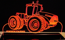 Tractor Case 400 Choose Your Text Acrylic Lighted Edge Lit LED Sign / Light Up Plaque Full Size Made in USA