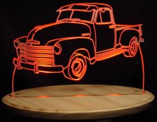1953 Chevy Pickup Truck 5 Window Acrylic Lighted Edge Lit LED Sign / Light Up Plaque Chevrolet