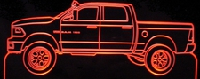 2010 Dodge Ram Pickup Acrylic Lighted Edge Lit LED Sign / Light Up Plaque Full Size Made in USA