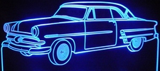 1953 Ford Victoria Acrylic Lighted Edge Lit LED Sign / Light Up Plaque Full Size Made in USA