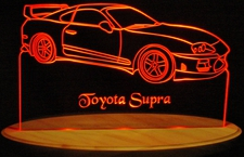 1995 Toyota Supra Acrylic Lighted Edge Lit LED Car Sign / Light Up Plaque