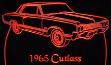 1965 Oldsmobile Cutlass Acrylic Lighted Edge Lit LED Car Sign / Light Up Plaque