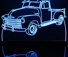 1953 Chevy Pickup with visors Acrylic Lighted Edge Lit LED Sign / Light Up Plaque Chevrolet Full Size USA Original