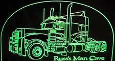 2000 Peterbilt Truck (email for text) Acrylic Lighted Edge Lit LED Sign / Light Up Plaque Full Size USA Original