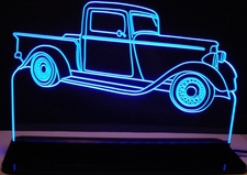 1934 Dodge Pickup Truck Acrylic Lighted Edge Lit LED Sign / Light Up Plaque Full Size USA Original