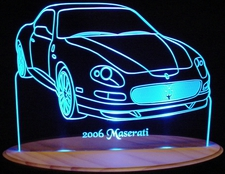 2006 Maserati Acrylic Lighted Edge Lit LED Car Sign / Light Up Plaque