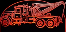 1971 Pblt Wrecker Acrylic Lighted Edge Lit LED Sign / Light Up Plaque Full Size Made in USA