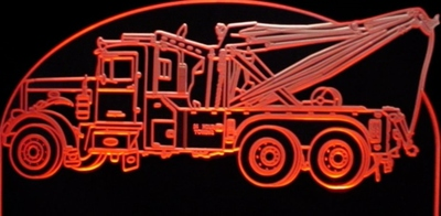 1971 Peterbilt Holmes Wrecker Acrylic Lighted Edge Lit LED Sign / Light Up Plaque Full Size USA Original