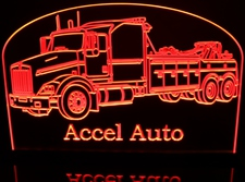 Wrecker Rotator KW Towing Truck (add your own text) Acrylic Lighted Edge Lit LED Sign / Light Up Plaque Full Size Made in USA