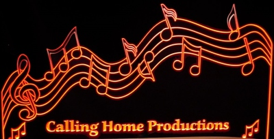 Music Scale Notes Business Sign Acrylic Lighted Edge Lit LED Sign / Light Up Plaque Full Size Made in USA