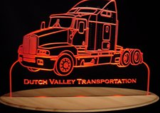 Semi Kenworth Acrylic Lighted Edge Lit LED Sign / Light Up Plaque Full Size USA Original