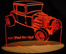 1930 Ford 2 Door Coupe Acrylic Lighted Edge Lit LED Car Sign / Light Up Plaque