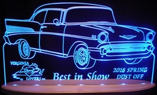 Award Trophy Acrylic Lighted Edge Lit LED Sign / Light Up Plaque Spring Dust Off Full Size Made in USA