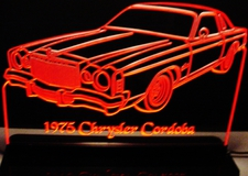 1975 Cordoba Acrylic Lighted Edge Lit LED Sign / Light Up Plaque Full Size USA Original