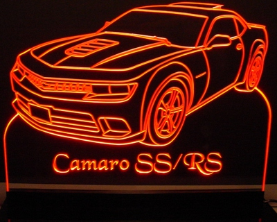 2015 Camaro RS/SS Acrylic Lighted Edge Lit LED Sign / Light Up Plaque Full Size USA Original