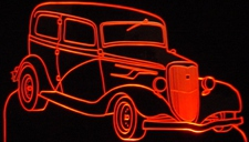 1934 Ford Sedan  Acrylic Lighted Edge Lit LED Car Sign / Light Up Plaque
