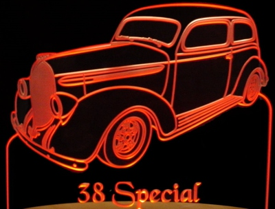 1938 Buick Special Acrylic Lighted Edge Lit LED Sign / Light Up Plaque Full Size Made in USA