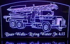 Mac Truck (add your own text) Acrylic Lighted Edge Lit LED Sign / Light Up Plaque Full Size Made in USA