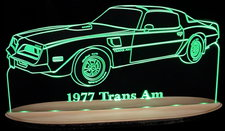 1977 Trans Am Acrylic Lighted Edge Lit LED Sign / Light Up Plaque Full Size Made in USA