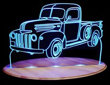 1943 Ford Pickup Acrylic Lighted Edge Lit LED Truck Sign / Light Up Plaque