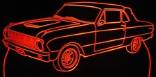1963 Falcon Convertible Acrylic Lighted Edge Lit LED Sign / Light Up Plaque Full Size Made in USA