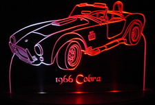 1966 Ford Cobra Acrylic Lighted Edge Lit LED Car Sign / Light Up Plaque