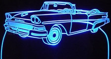1958 Ford Fairlane 500 Convertible Acrylic Lighted Edge Lit LED Car Sign / Light Up Plaque
