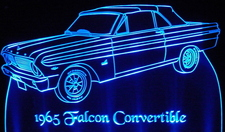 1965 Ford Falcon Convertible Acrylic Lighted Edge Lit LED Car Sign / Light Up Plaque