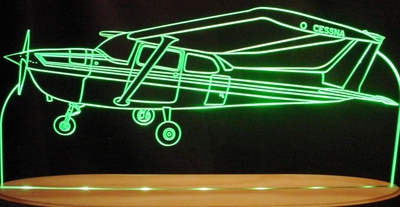1970 Cessna Airplane Plane Acrylic Lighted Edge Lit LED Sign / Light Up Plaque Full Size USA Original