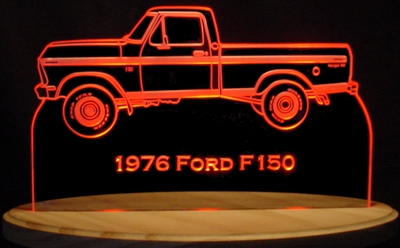 1976 Ford Pickup Acrylic Lighted Edge Lit LED Truck Sign / Light Up Plaque