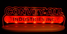 "Convey SAMPLE ONLY Advertising Business Logo Acrylic Lighted Edge Lit Led Sign 21"" Light Up Plaque"
