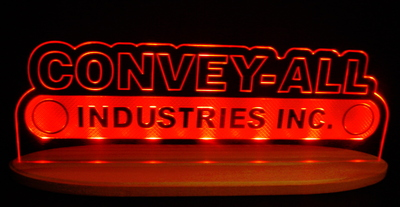 "Convey Advertising Business Logo Acrylic Lighted Edge Lit Led Sign 21"" Light Up Plaque"