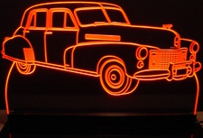 1941 Cadillac Fleetwood Acrylic Lighted Edge Lit LED Sign / Light Up Plaque Full Size Made in USA