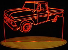 1966 Chevy Pickup Truck Acrylic Lighted Edge Lit LED Sign / Light Up Plaque Chevrolet