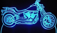 2008 Night Train Motorcycle Acrylic Lighted Edge Lit LED Bike Sign / Light Up Plaque