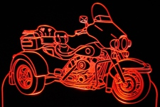 2004 Trike Motorcycle Acrylic Lighted Edge Lit LED Bike Sign / Light Up Plaque