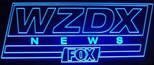 Fox News WZDX Sample Only Design Not For Sale Acrylic Lighted Edge Lit LED Sign / Light Up Plaque Full Size USA Original